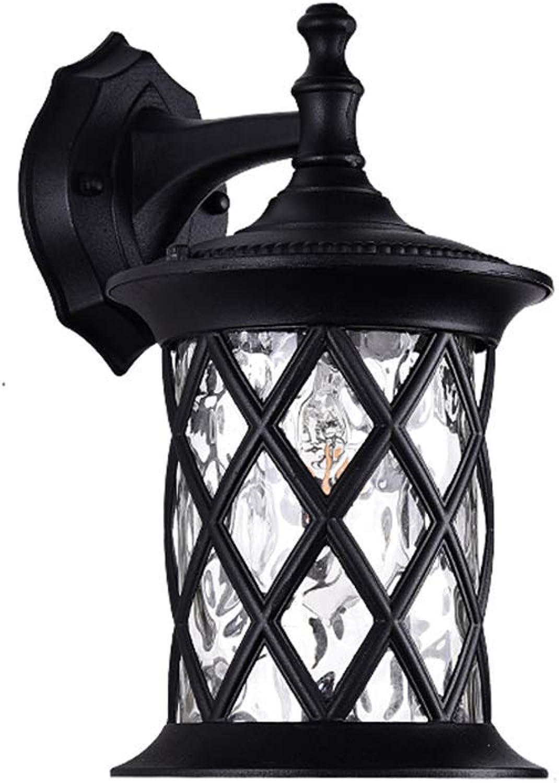 CMDDYY Outdoor-Wand Lampe, Europische Outdoor-Wasserdichte Treppe Garten Licht, Gang-Korridor Retro Hotel Wand Lampe Auen Wand Lampe E27,Small