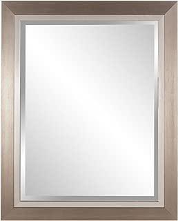 Howard Elliott 69043 Chicago Rectangular Mirror, 18 x 34-Inch, Brushed Silver