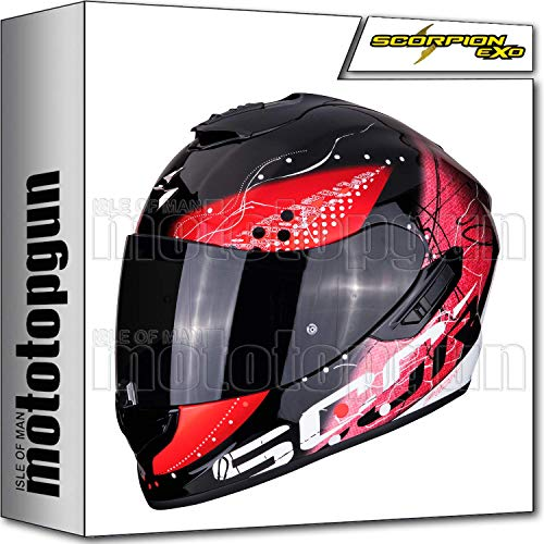 MOTOTOPGUN Scorpion 14-272-24 - Casco integral para moto EXO-1400 AIR CLASSY BLACK-RED S