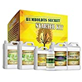 Humboldts Secret Starter Kit Pack – World's Best Indoor & Outdoor Plant Fertilizer and Nutrient System: Base A & B – Golden Tree – Flower Stacker – Plant Enzymes – CalMag & Iron