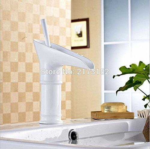 CZOOR wijn glas vorm gegrild wit geverfd badkamer waterval kraan Fancy stijl wit wastafel mixer kraan W-026