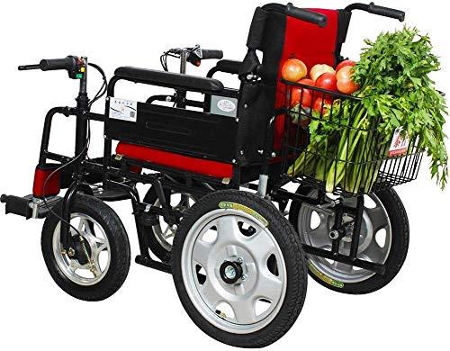 QUETAZHI QU523 - Silla de ruedas eléctrica ligera, cuatro personas mayores con discapacidad pueden ser personas fuera de carretera, multifuncional