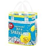 [炭酸水]サントリー 天然水 南アルプススパークリングレモン 500ml×6本