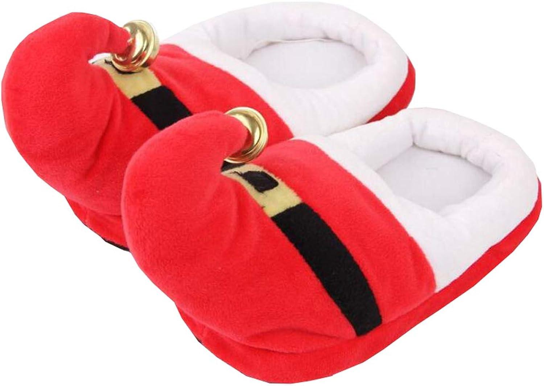 Christmas Slippers Women Non Slip Fuzzy Winter Slipper Memory Foam Slipper (E)