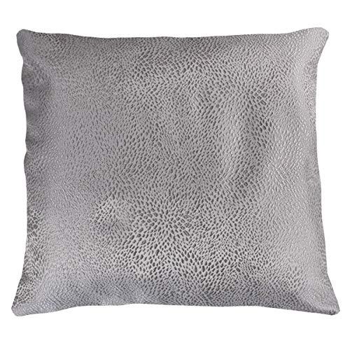 SaRani - Par de fundas de cojín de fantasía punteada gris con cremallera para sofá, decoración del hogar, 40 cm
