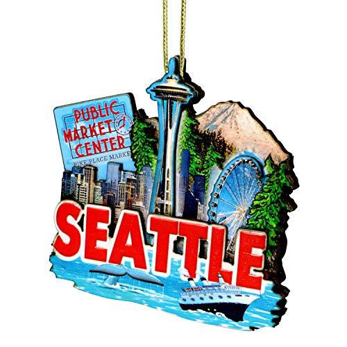 City-Souvenirs 3D Seattle Christmas Ornament