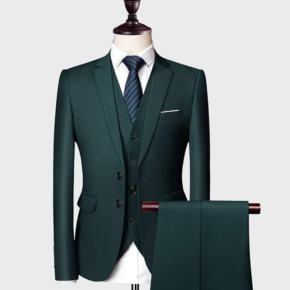 HLDETH Men outlet Suits Slim Wedding Groom 3 Casual Product Wear Business Male
