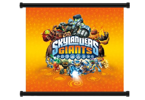 Skylanders Giants Game Fabric Wall Scroll Poster (32' x 29') Inches