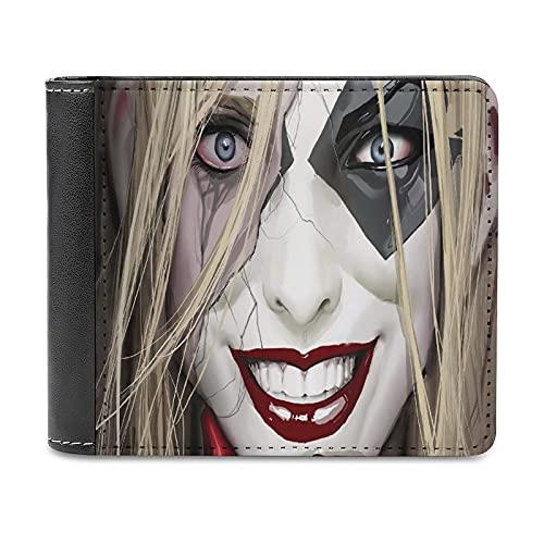 Harley Quinn Art Pintura al óleo Caracteres Carteles Cuero PU Cartera Embrague, puede acomodar tarjetas de crédito, efectivo, etc. DIY monedero personalizado, moda tarjeta de crédito caso