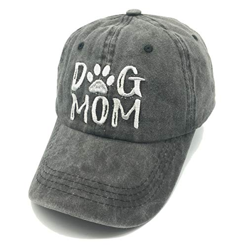Waldeal Embroidered Dog Mom Paw Vintage Washed Distressed Dad Hats Funny Mother's Day Gift