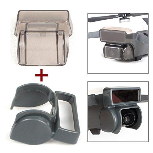 Flycoo Confezione da 2: paraluce antiriflesso + copriobiettivo gibbosa per Fotocamera DJI Spark Drone Gimbal Accessori per la Protezione del Sistema di rilevazione 3D (Grigio)