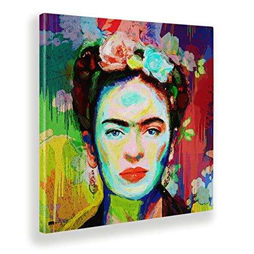 Giallobus - Gemälde - Frida - Leinwand - 50x50 - Bereit zum Aufhängen - Moderne Gemälde für zu Hause