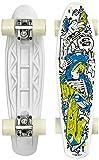 Street Surfing Skateboard FUEL board-Skelectron, Nero, 55 cm, 500290