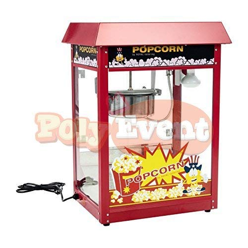 Poly Event Popcornmaschine, professionell, ohne Wagen, 1600 W, Rot, 220 g