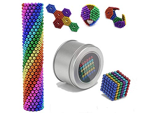 DWYQ Magnetic Balls - 3 MM 216 Pieces Magnets DIY Toys Magnetic Fidget Blocks Building Blocks - Fun Stress Relief Desk Toy for Adults - Mashable Smashable Buildable