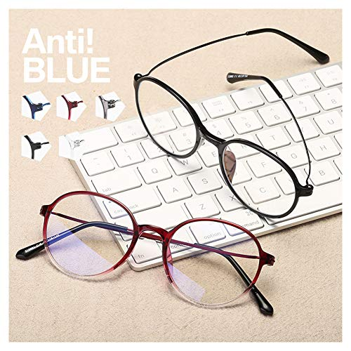 Gafas Luz Azul, Gafas Redondas Transparentes Blue Light Glasses Gafas Sin Graduar Hombre Gafas Ordenador Marco Anti Dolor De Cabeza Dolor De Cabeza Para Mujeres Y Hombres- Transparent