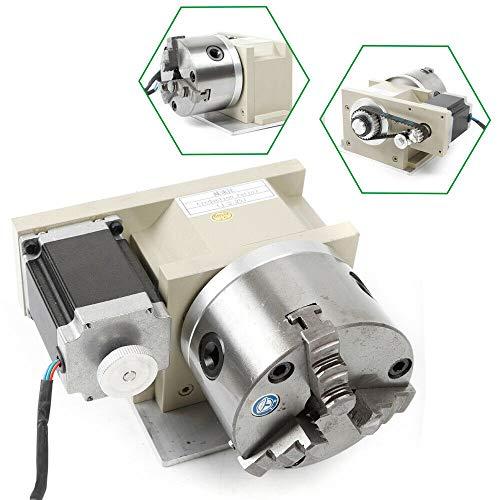 CNC Drehachse Drehmaschine Rotary Fräsmaschine 4 Achse a Achse 3 Backen 100mm Spannfutter für CNC Fräser Fräsgravur