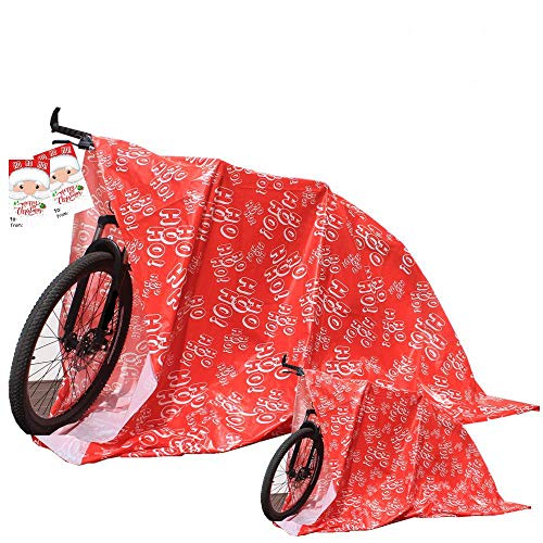 "Giant Gifts Jumbo Plastic Gift Bag Holiday Bike Gift Bag Christmas Gift Bags (76.4""x60.2"", 2 Pack)"