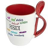 Löffeltasse mit Namen Heidi - Positive Eigenschaften von