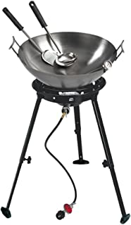 Eastman Outdoors 37212 Outdoor Gourmet 22 Inch Carbon Steel Wok Kit