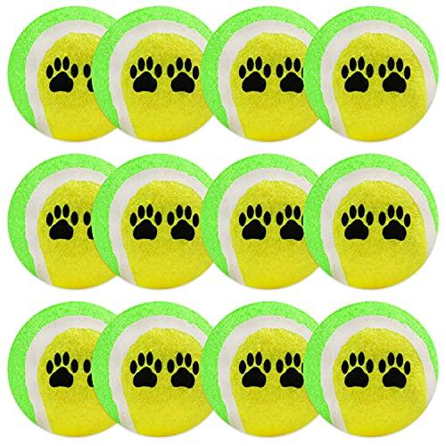12x Tennisball für Hunde   Premium Hunde-Bälle Gelb-Grün   Tennisbälle als Hunde-Spielzeug Ballspielzeug für kleine, große Hunde & Welpen für Hunde-Spiele zahnschonend bissfest unzerstörbar