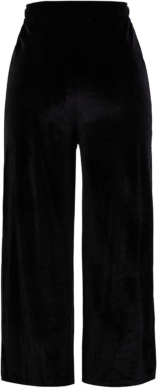 NREALY Women Tucson Mall Superlatite Gold Velvet Wide Wide-Legg Leg Loose Trousers Pants