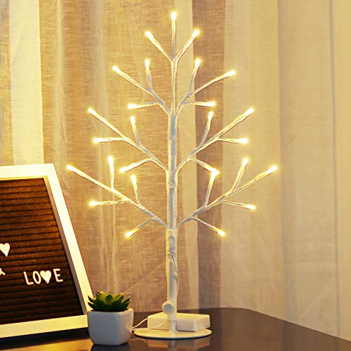 Bolylight LED Birch Tree Jewelry Holder Night Light Table Lamp Centerpiece 17.71 inch 27L Great Decor for Bedroom/Party/Wedding/Office/Home, Indoor and Outdoor Use