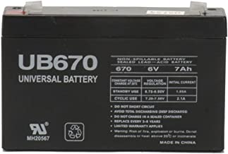 Universal Power Group 6V 7Ah SLA Replacement Battery for Interstate SLA0925