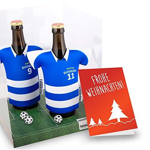 Weihnachts-Geschenk | Der Trikotkühler | Das Männergeschenk für Duisburg-Fans | Langlebige Geschenkidee Ehe-Mann Freund Vater Geburtstag | Bier-Flaschenkühler by Ligakakao