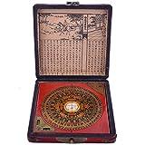 Feng Shui Chino dragón y Phoenix brújula Luo Pan herramienta + libre Mxsabrina rojo pulsera de cadena H1022
