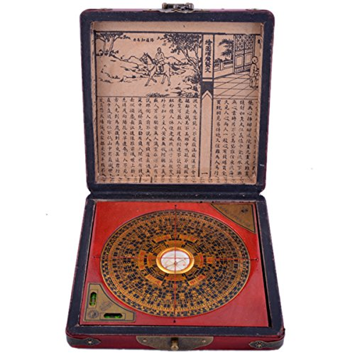 Chinesische Feng Shui chinesischer Drache & Phönix Kompass Luo Pfanne Werkzeug + kostenloser Mxsabrina mit roter Schnur Armband G1322