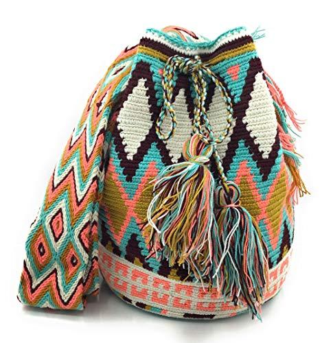 Wayuu Mochila, Bolsos Colombianos Artesanales con motivos tribales, tanto para mujer como...
