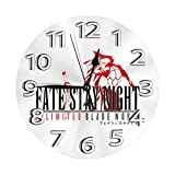 掛け時計 Fate/Stay Night(フェイト/ステイナイト) 電波時計 おしゃれ アニメ 連続秒針 静音 壁掛け時計 掛時計 インテリア 大数字 見やすい 25cm