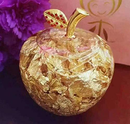 Kushim黄金のリンゴ林檎アップルAppleゴールド誕生日母の日記念日先生の日クリスマス創意贈り物(FreeSize金)