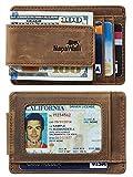 Toughergun Genuine Magnetic Napa Leather Front Pocket Money Clip Slim...