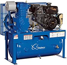 product image for Quincy QT-7.5 Splash Lubricated Reciprocating Air Compressor - 14 HP, Kohler Gas Engine, 30-Gallon Horizontal, Model Number G214K30HCD