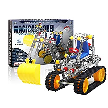 Iron Commander Cool Metal Erector Set for Boys and Girls Excavator Model Kit Construction Toys Building Sets for Adults 8-13 and up Indoor