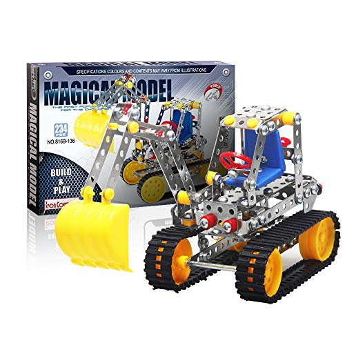 Iron Commander Cool Metal Erector Set for Boys, Excavator Model Kit Construction Toys Building Sets for Adults 8-13 and up Indoor