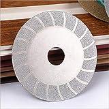 Ruedas de molino de ángulo de rueda de corte de metal Ruedas de la amoladora de ángulo, doble lado de cerámica Sierra de diamante de la hoja de la hoja de la cuchilla de la molienda Elimitador de la h