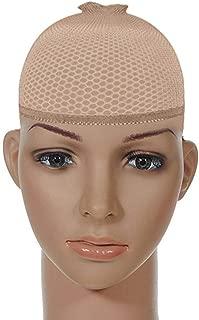 XXTAXN Stocking Mesh Wig Caps for Men Women,Skin,2 Piece,1 Pack