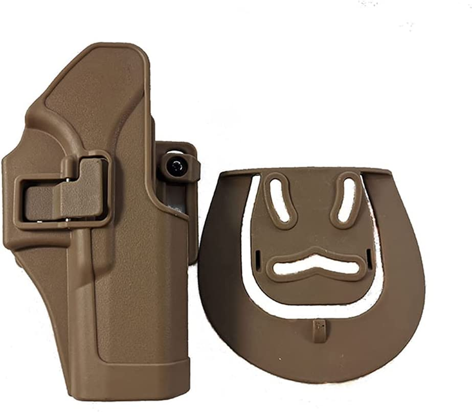 AJDGL Estuche para pistolera táctica - Estuche para Pistola Airsoft Estuche para Cintura Accesorios de Caza para Glock 17 19 22 26 31,Tan