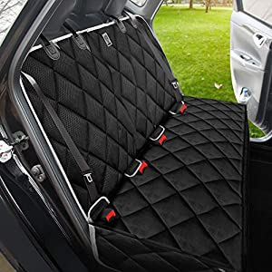 BRONZEMAN Dog Seat Cover for Back Seat – 100% Waterproof & Eco Car Seat Protector,Heavy-Duty and Nonslip Back Seat Cover for Dogs and Kids,Strong & Durable,Universal Size Fits for Cars, Trucks & SUVs