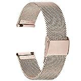 Cinturino per Orologio 20mm, Fullmosa Cinturini in Acciaio Inossidabile per Huawei iWatch 2/Samsung Galaxy Watch 42mm/Samsung Gear S2 Classic / Amazfit Bip, per Uomo / Donna, 20mm Champagne Oro