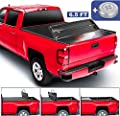 MOSTPLUS Quad Fold Soft Truck Bed Tonneau Cover Compatible for 2014-2019 Chevy Silverado GMC Sierra 1500/2015-2018 Silverado Sierra 2500 3500 HD 6.5/6.6 FT Bed Fleetside On Top