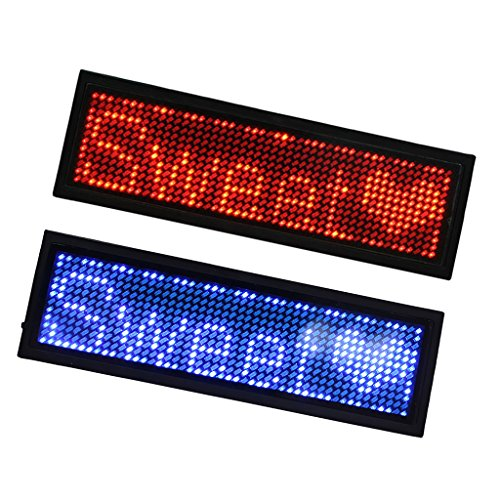 2pcs Programmierbare LED Namensschild Zeichen Karte Tag Scrollen Meldung