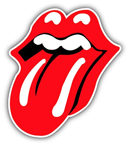 Rolling Stones Tonque Music - Self-Adhesive Sticker Car Window Bumper Vinyl Decal Hochwertiger Aufkleber