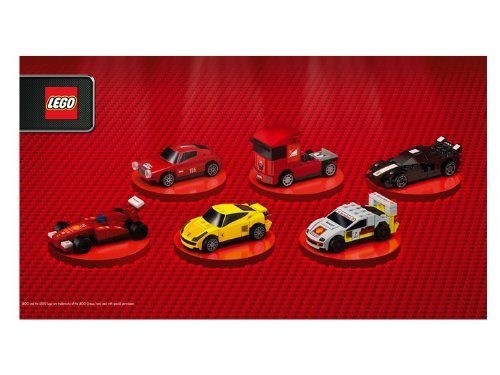 Shell V-Power Lego Ferrari Full Set ~ 6 Cars and 1 Pit Crew Polybags ~ 30190, 30191, 30192, 30193, 30194, 30195, 30196 by Shell V-Power Ferrari