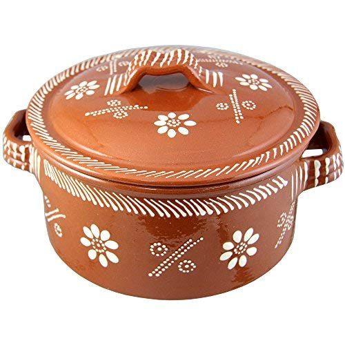 Vintage Portuguese Traditional Clay Terracotta Casserole With Lid Made In Portugal Cazuela...