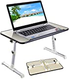"""PrimeCables® Adjustable Laptop Bed Table, 17"""" Portable Laptop Desk, Foldable Sofa Breakfast Tray"""