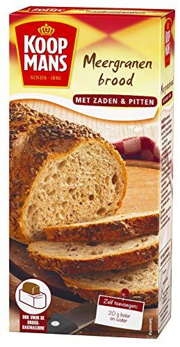Koopmans Meergranen broodmix (6x 450g multipack), met zaden en pitten, mix geschikt voor 1 brood of 10 bolletjes (oven en broodbakmachine)